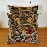 Coussin tissu tapisserie ancienne