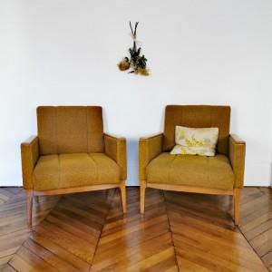 Paire de fauteuils années 60 2