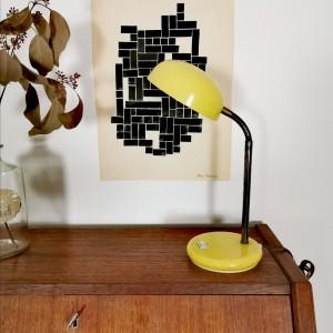 Lampe vintage jaune citron