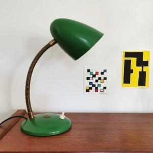 Lampe 60's verte