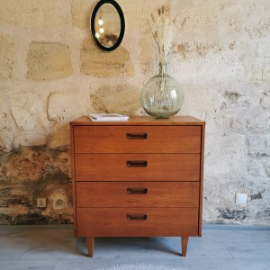 Commode en teck vintage