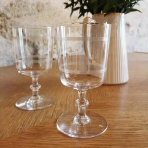 Ensemble de 6 verres en cristal anciens