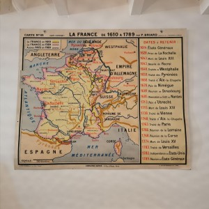 Carte scolaire La France de 1610 à 1789
