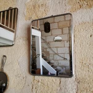 Miroir de barbier ancien 17x24cm