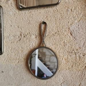 Miroir de barbier ancien rond