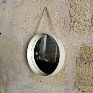 Miroir 70's blanc