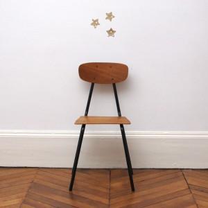 Chaise d'écolier noire 1