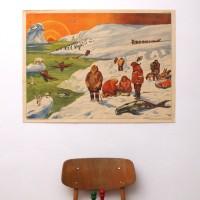 Affiche scolaire Le climat froid - La carrière de pierre