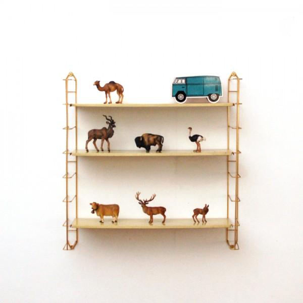 etagere bois cuivre. Black Bedroom Furniture Sets. Home Design Ideas