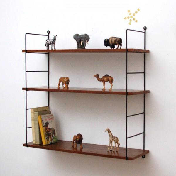 etagere metal et bois. Black Bedroom Furniture Sets. Home Design Ideas
