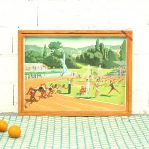 Affiche scolaire Le Stade - Le port