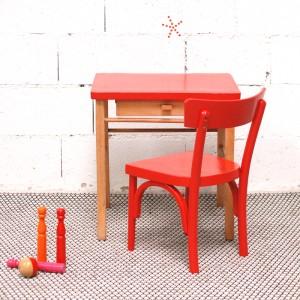 Bureau et chaise Baumann Molten Lava