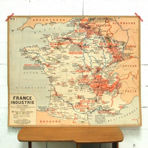 Carte scolaire Industries en France