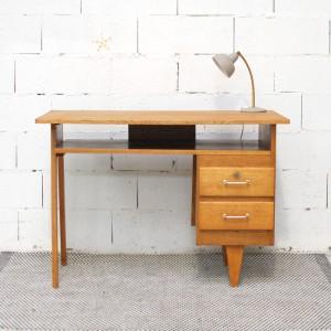 Grand bureau en bois 2 tiroirs