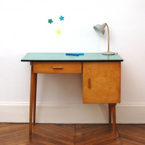 Bureau années 50 formica vert