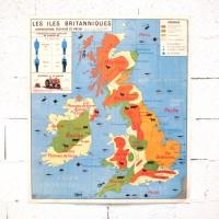 Carte scolaire Iles Britanniques Etats Unis