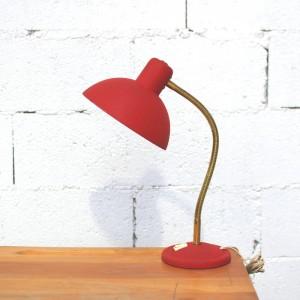 Lampe années 50 rouge