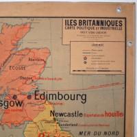 Carte scolaire murale Les Iles Britanniques