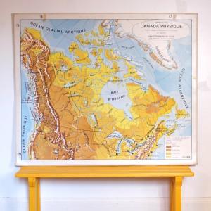 Carte scolaire Canada physique et Brésil économique