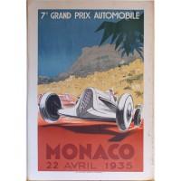Affiche ancienne Grand Prix de Monaco 1