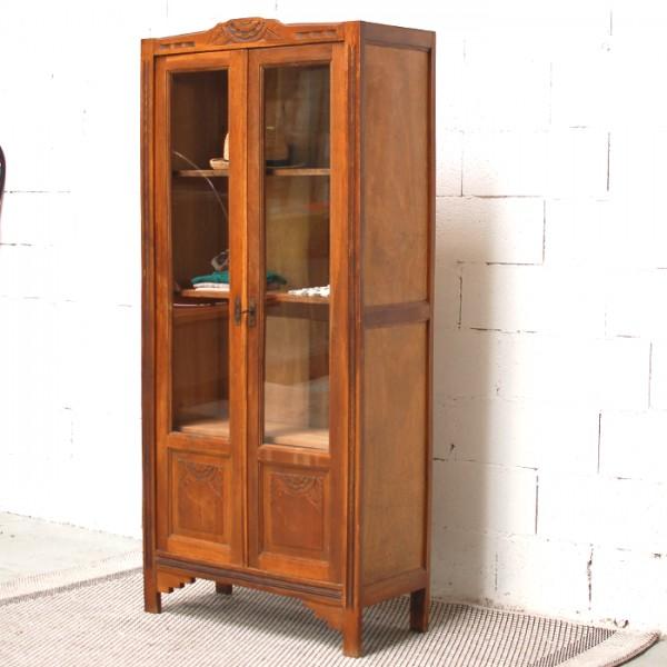 Armoire ancienne vitr e for Petite porte bois