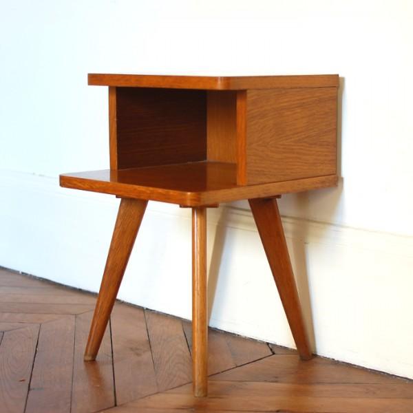 chevet ann es 50. Black Bedroom Furniture Sets. Home Design Ideas