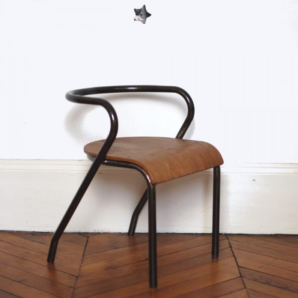 chaise mobilor jacques hitier noire. Black Bedroom Furniture Sets. Home Design Ideas