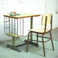 Bureau et chaise métal 1