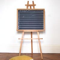 Tableau noir d'école ancien