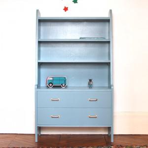 Bibliothèque années 50 Oval room blue 1