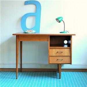 Bureau années 50 2 tiroirs 1