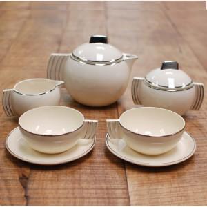Service à thé art déco pour 2 1