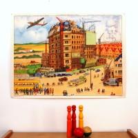 Affiche scolaire La reconstruction / Le maquis