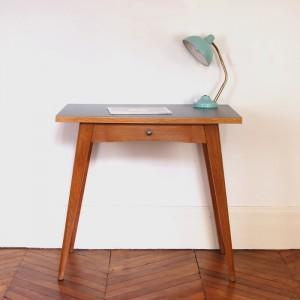 Table bureau en chêne années 50 1