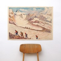 Affiche scolaire Le glacier - La montagne usée