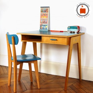 Bureau Gaston Large bleu 1