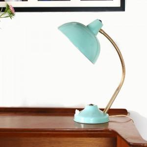 Lampe de bureau vintage turquoise 1
