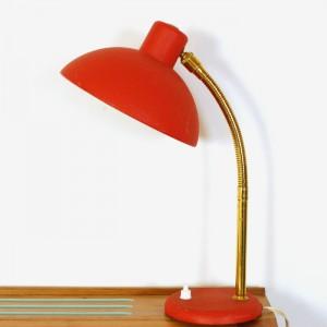 Lampe de bureau vintage rouge 1