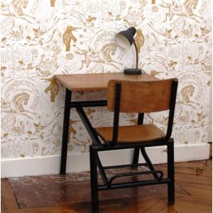 Bureau et chaise intégrée - noir 1