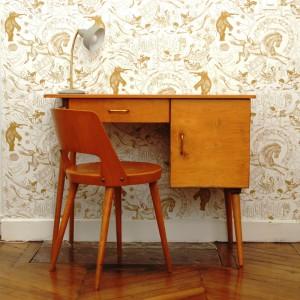 Grand bureau Baumann et sa chaise
