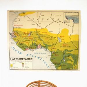 Carte murale Afrique Noire 1