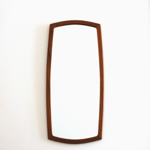Miroir en bois fifties 1