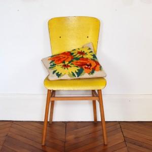 Coussin vintage en crochet 1