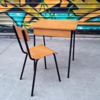 Ensemble pupitre et chaise années 60