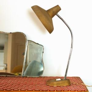 Lampe vintage dorée