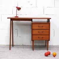 Bureau années 50 3 tiroirs
