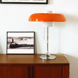 Lampe années 70 orange 1