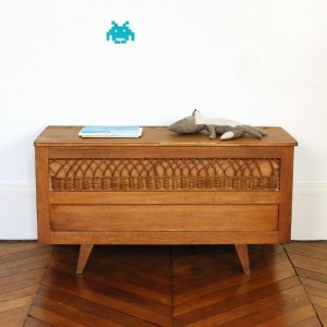 Coffre vintage en bois 1