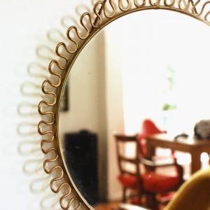 Petit miroir ancien doré 2