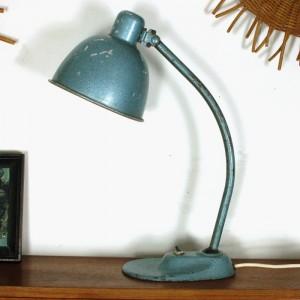 Lampe de table métal bleu 1